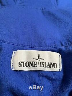 Stone Island 41030 Garment Dyed Crinkle Reps Ny Jacket Blue V0043 XL Mint Cond