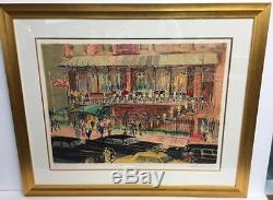 THE 21 CLUB by LeRoy NEIMAN. LIMITED EDITION SERIGRAPH! NEW YORK, NY! MINT