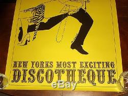 Ultra Rare HARLOW'S DISCOTHEQUE NEW YORK CITY 1969 POSTER NEAR MINT Mod Carnaby
