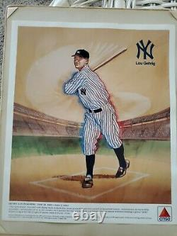 VINTAGE New York YANKEES Citgo ads (4) w #/ BABE RUTH LOU GEHRIG and more! LOT