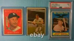 Vintage 1950s Bowman Topps New York Yankees 18card Lot 59 Mickey Mantle AS 564