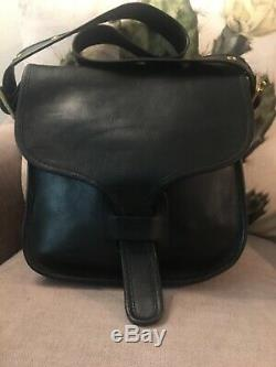 Vintage Mint Black Pre-serial #Coach Courier Made in New York City Bag Purse 60s