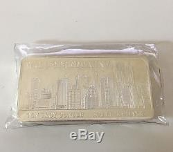 Wall Street Mint 10 Oz Silver Bar. 999 Nyc Skyline New York Twin Towers On It