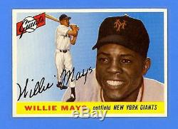 Willie Mays 1955 Topps #194 Hi # New York Giants Mint Condition