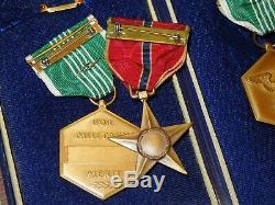 WWI WWII US Army Bronze Star Medal Group New York 79th Division Wounded Lot