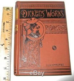 Works of CHARLES DICKENS! VICTORIAN BINDINGS! Not leather COMPLETE SET/RARE MINT+